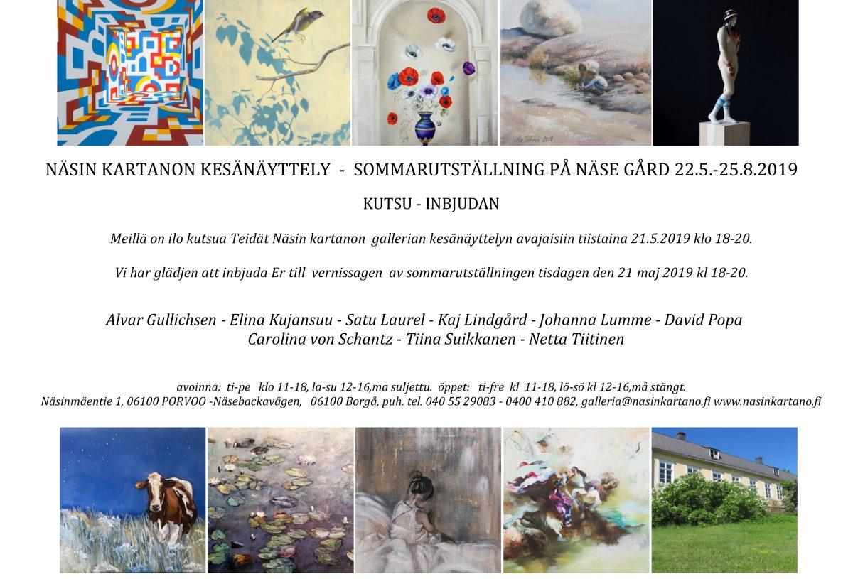 Näsin Kartano, Porvoo, Kesänäyttely 2019