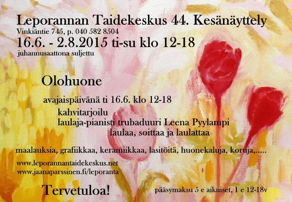 Leporannan kesänäyttely 2015